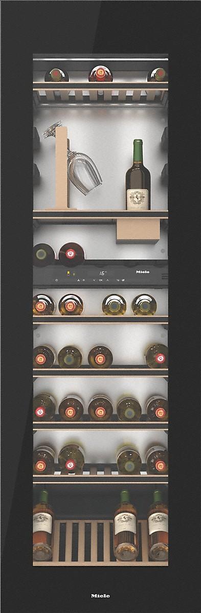 Miele KWT 6722 iGS Einbau-Weintemperierschrank Obsidianschwarz