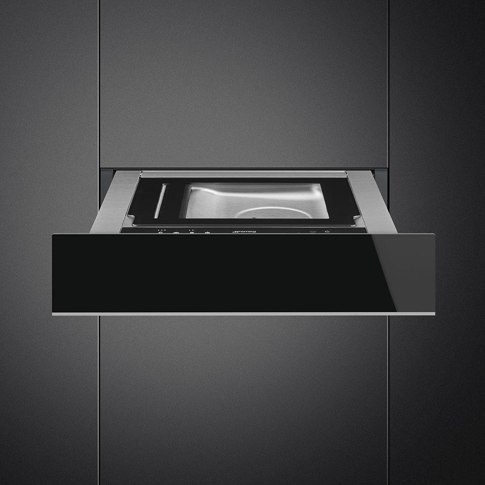 Smeg CPV615NX Einbau-Vakuumierschublade Schwarzglas