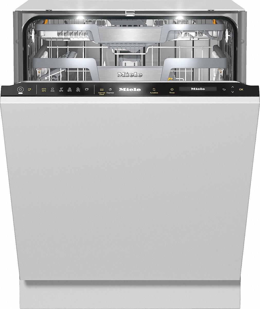 Miele G 7590 SCVI Vollintegrierter Geschirrspüler CleanSteel/Obsidianschwarz