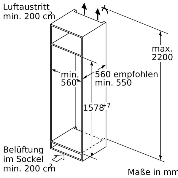 Bosch KIS77AFE0 Einbau-Kühl-Gefrierkombination