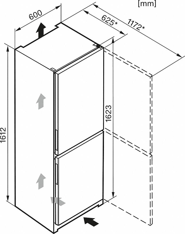 Miele KD 26022 EDO Stand-Kühl-Gefrierkombination Edelstahloptik