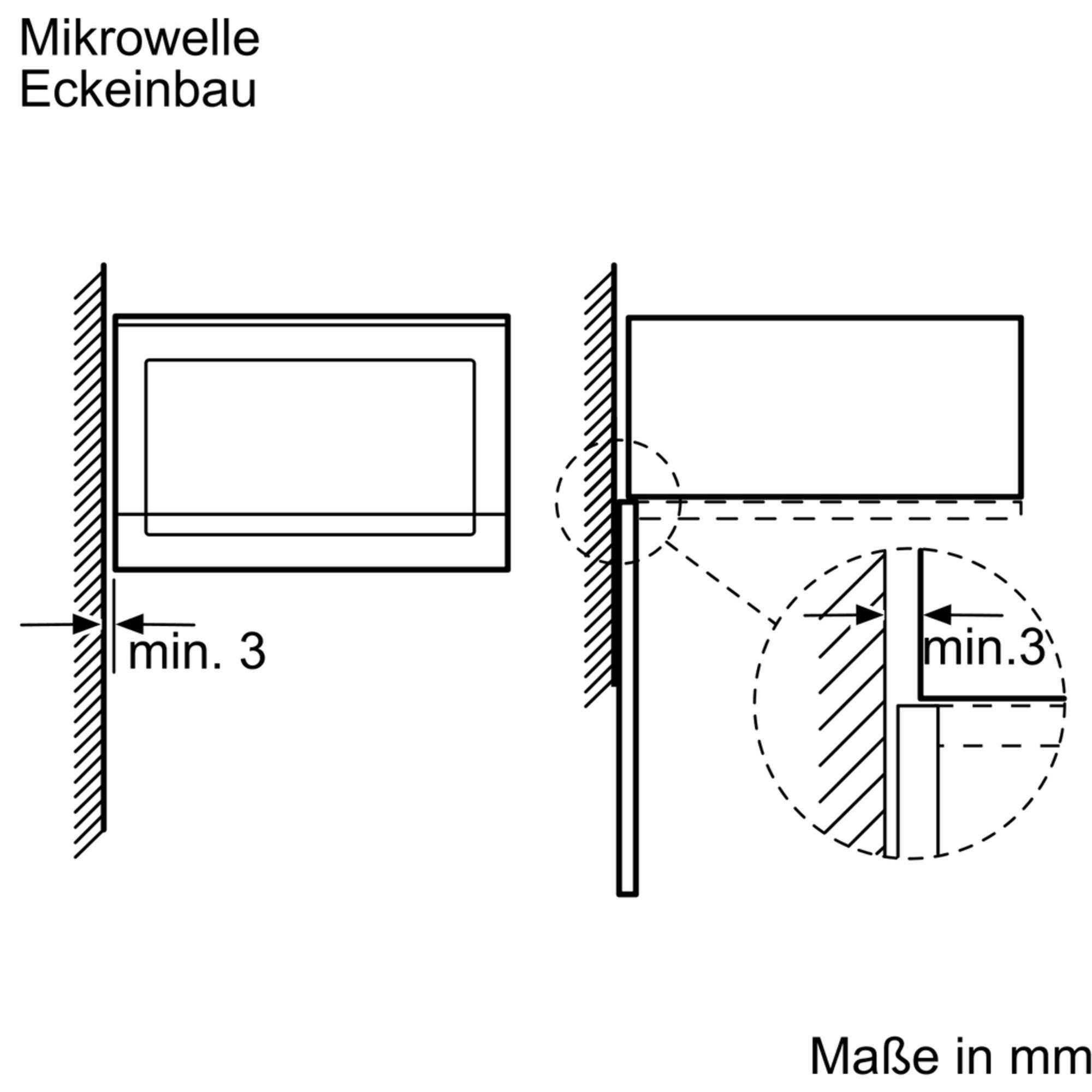 Bosch BFL524MB0 Einbau-Mikrowelle Schwarz