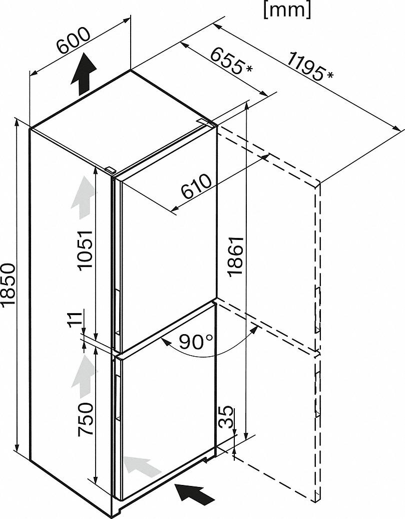 Miele KFN 28133 D EDT/CS Stand-Kühl-Gefrierkombination Edelstahloptik