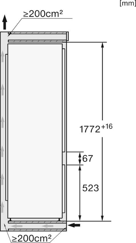 Miele KF 7731 E Einbau-Kühl-Gefrierkombination