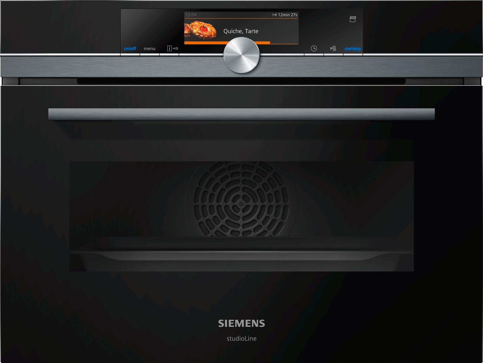 Siemens CS858GRB7 Einbau-Kompaktdampfbackofen Schwarz