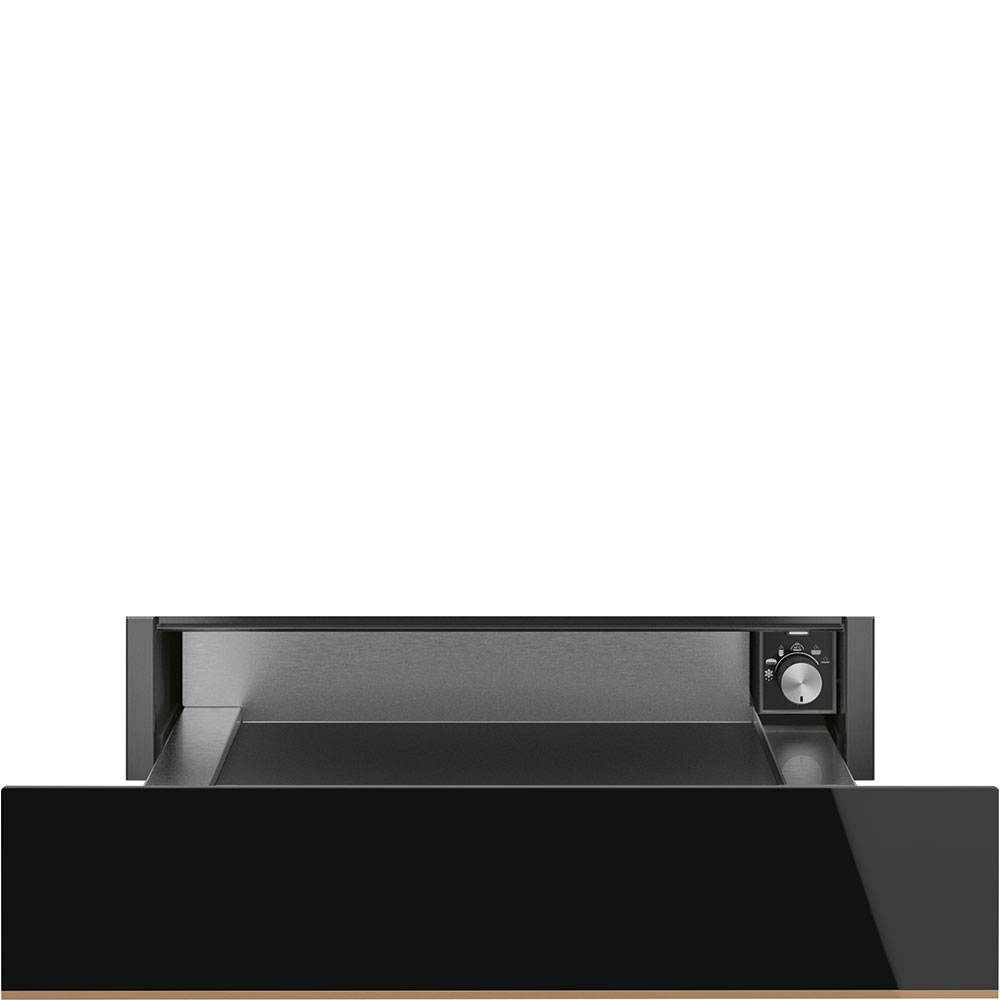 SMEG CPR615NR Einbau-Wärmeschublade Schwarzglas