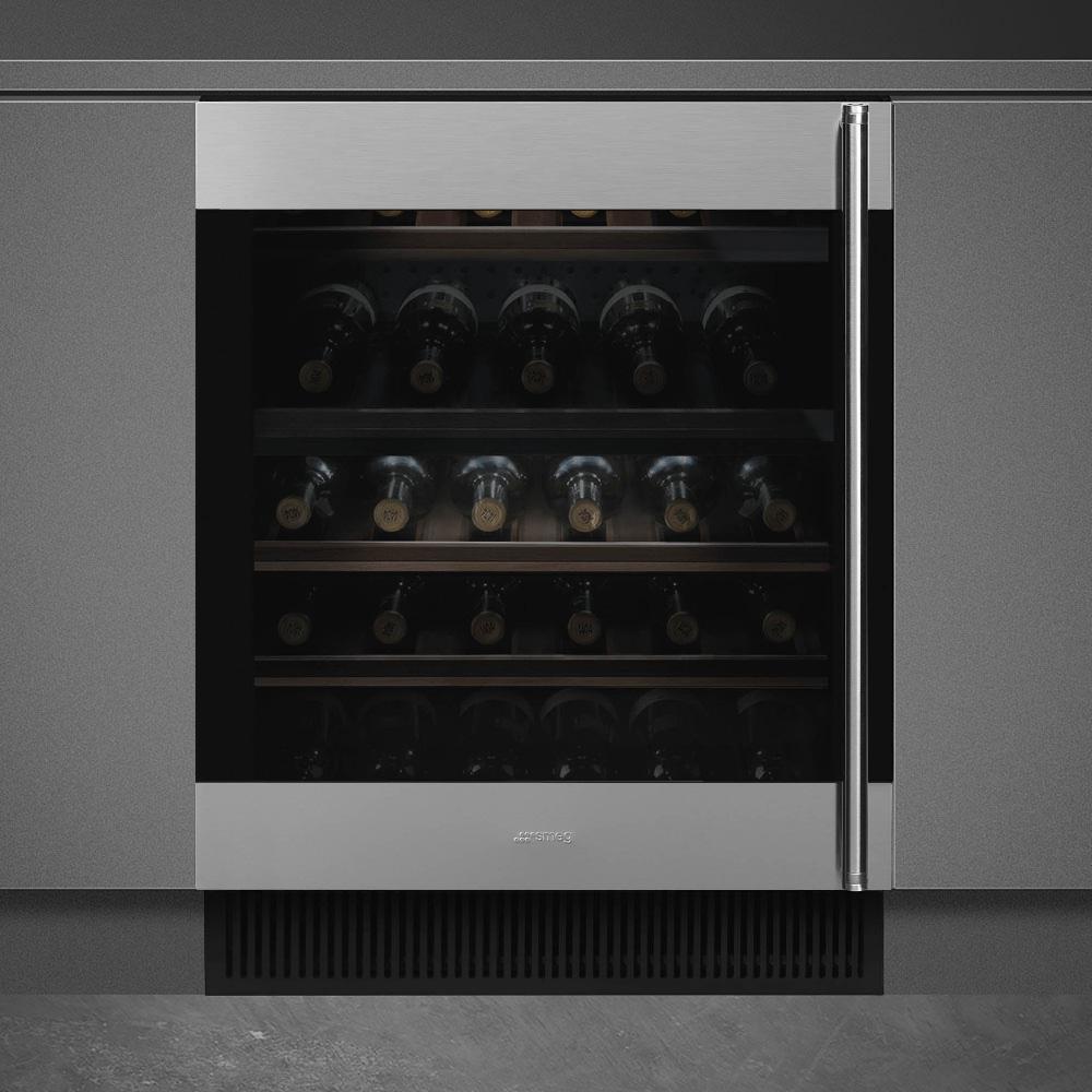 Smeg CVI338LX3 Einbau-Weinklimaschrank Edelstahl