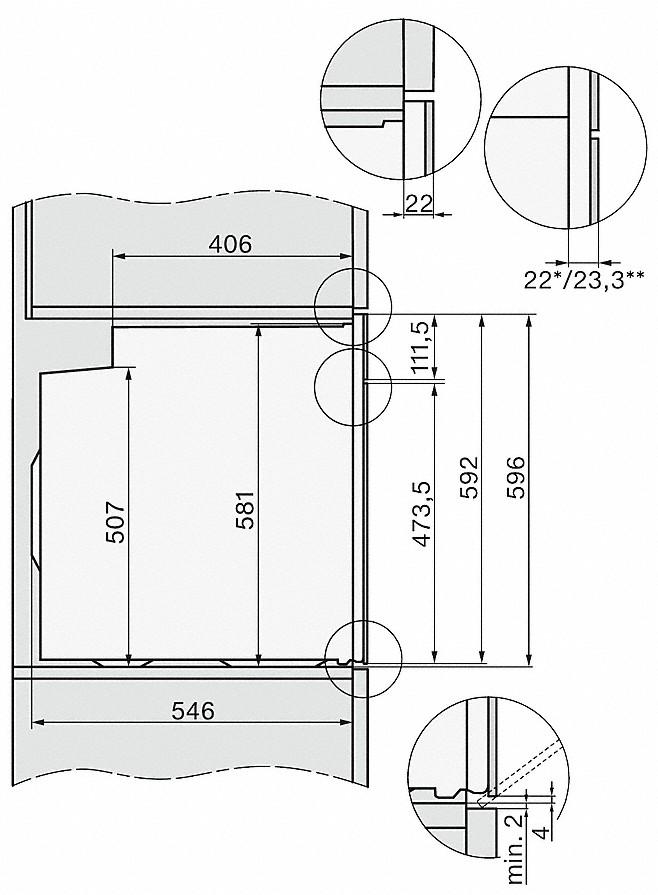 Miele H 7464 BP Einbau-Backofen Brillantweiß