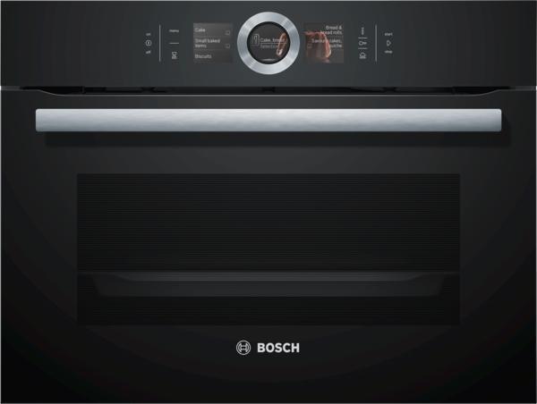 Bosch CSG656RB7 Combi-Dampfgarer Schwarz