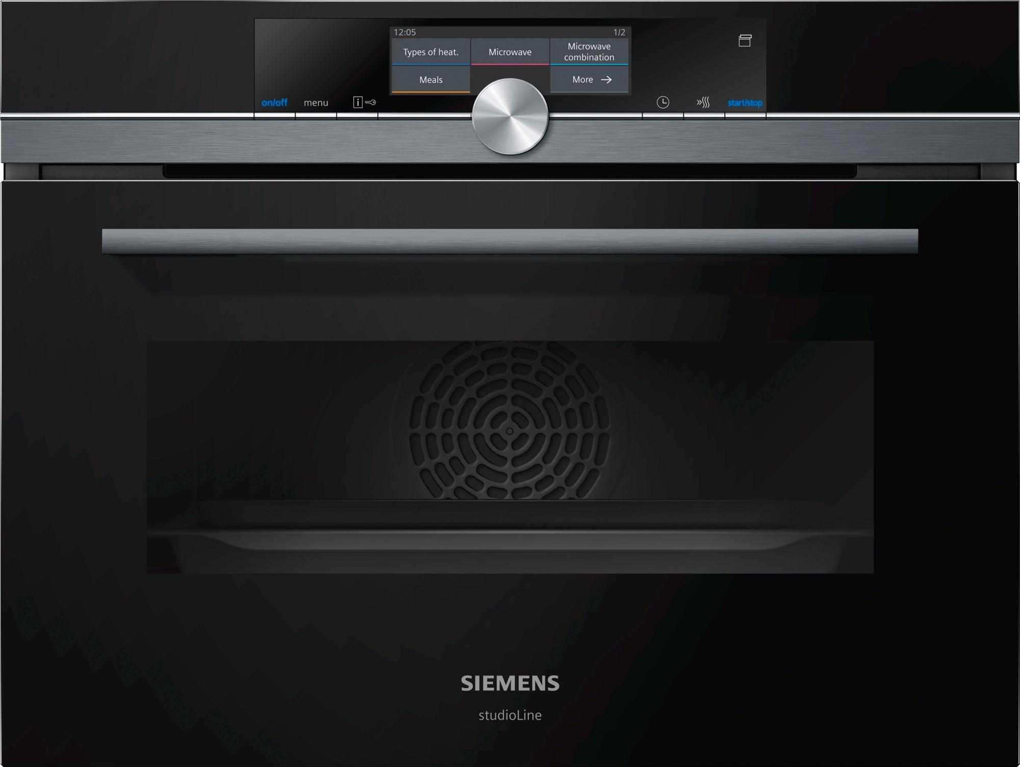 Siemens CN878G4B6 Kompakt-Backofen mit Mikrowelle Schwarz