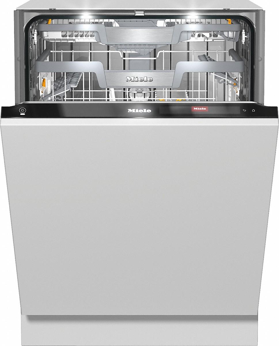 Miele G 7965 SCVI XXL Vollintegrierter Geschirrspüler CleanSteel/Obsidianschwarz