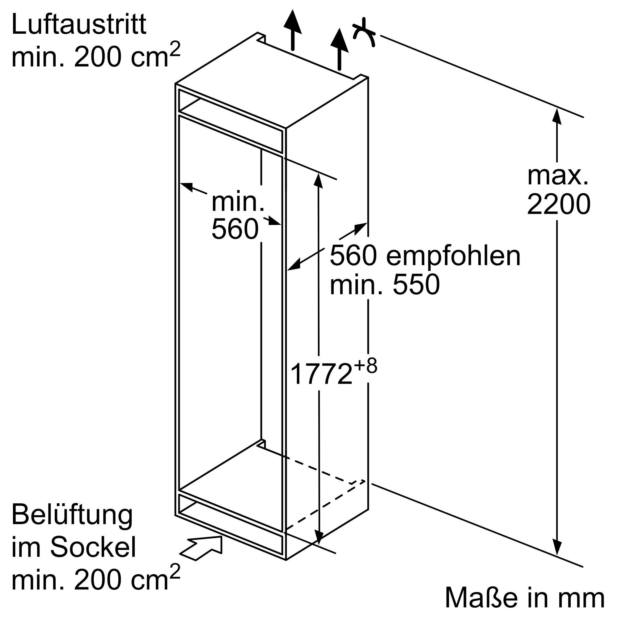 Bosch KIV87NSF0 Einbau-Kühl-Gefrierkombination