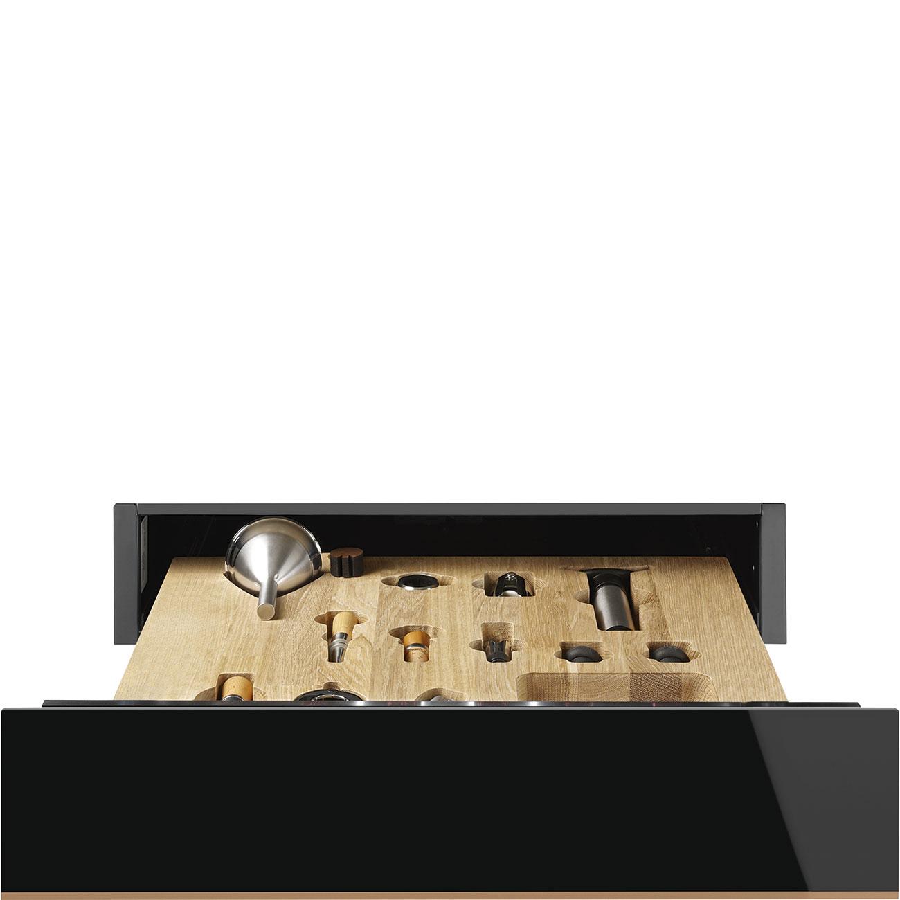 Smeg CPS615NR Einbau-Sommelierschublade Schwarzglas