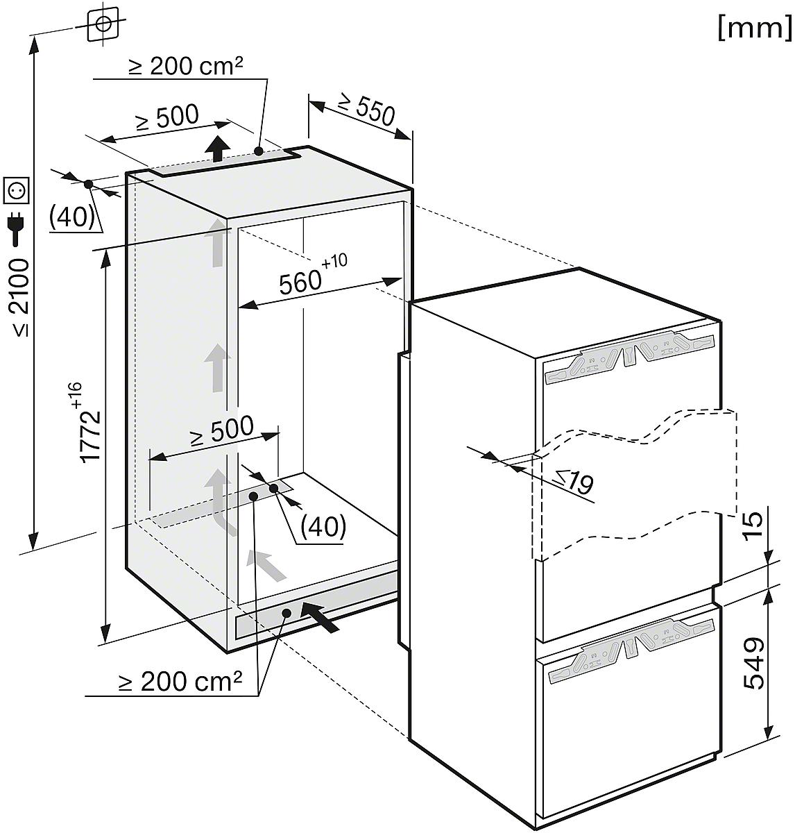 Miele KF 37272 ID Einbau-Kühl-Gefrierkombination