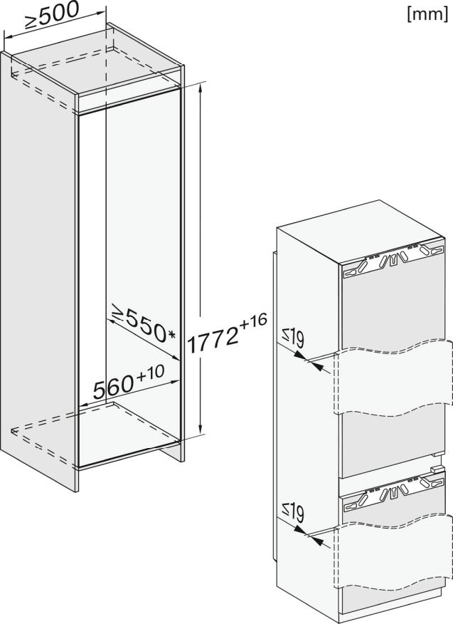 Miele KF 7772 B Einbau-Kühl-Gefrierkombination