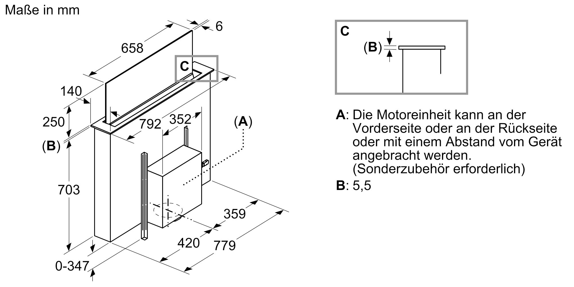Siemens LD88WMM65 Tischlüfter Schwarz