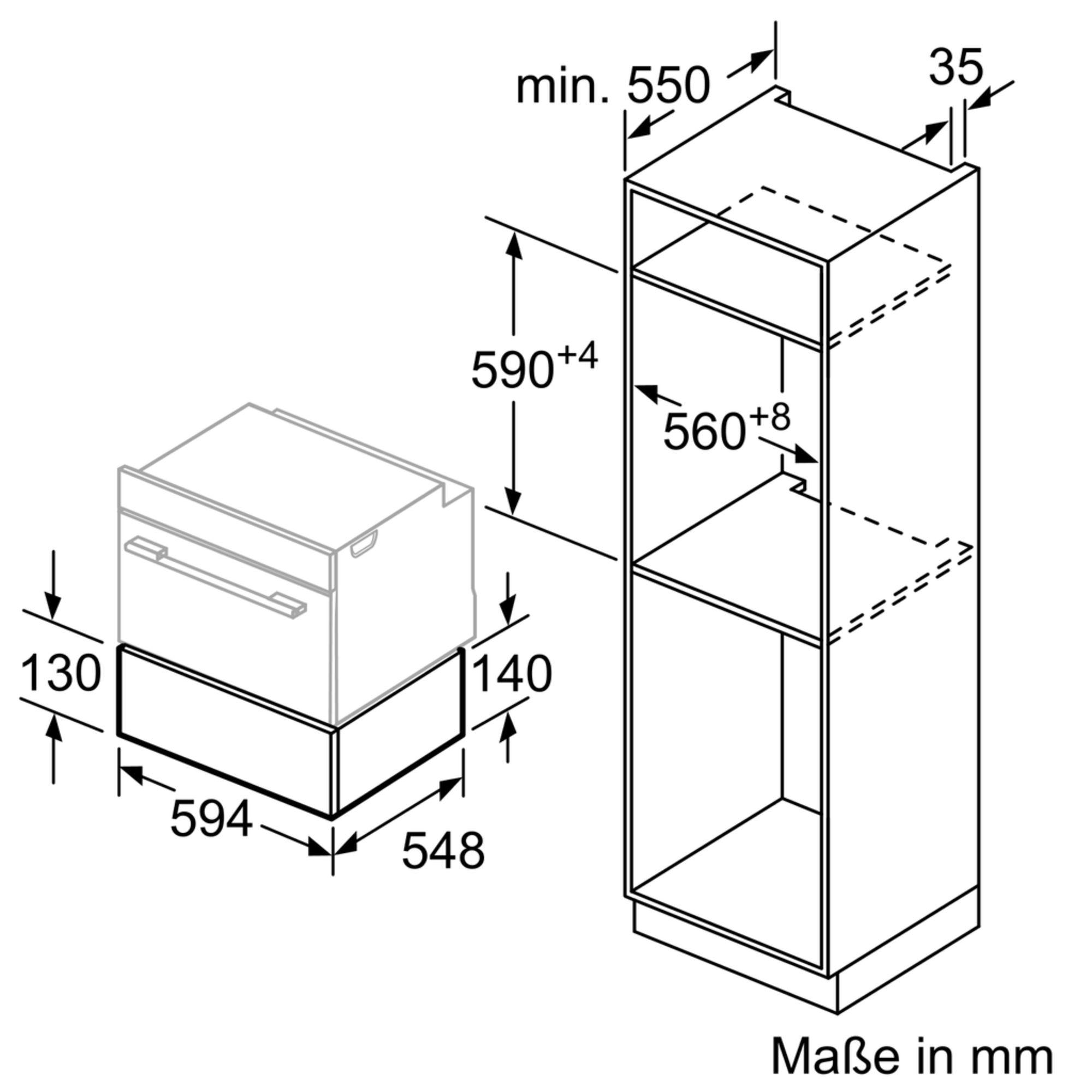 Siemens BI830CNB1 Einbau-Wärmeschublade Schwarz