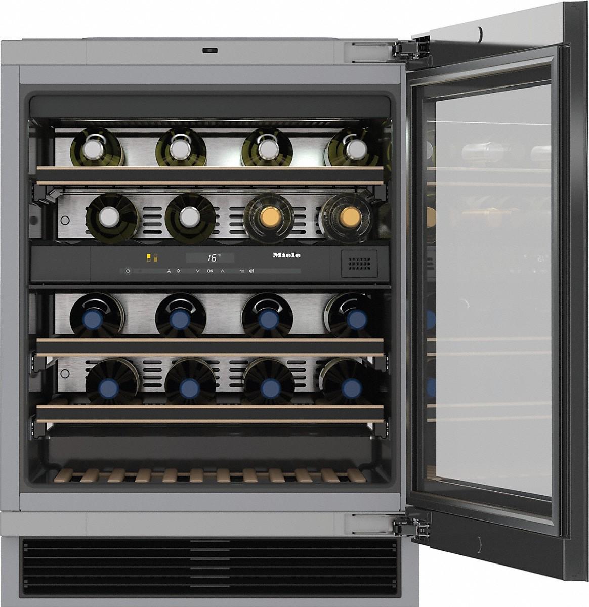 Miele KWT 6322 UG Unterbau-Weintemperierschrank Edelstahl