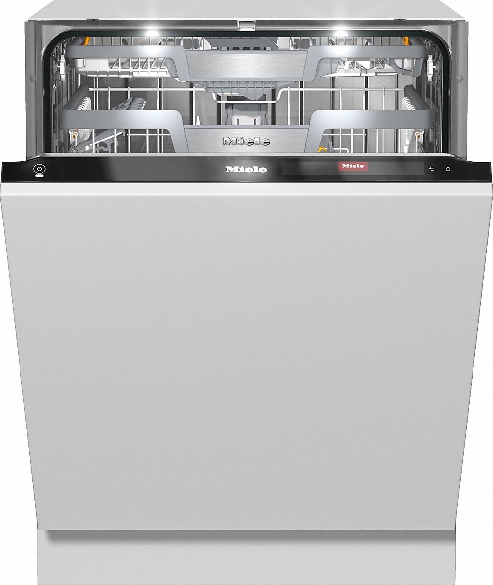 Miele G 7960 SCVI Vollintegrierter Geschirrspüler CleanSteel/Obsidianschwarz