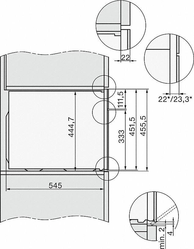 Miele H 7640 BM Kompakt-Backofen mit Mikrowelle Obsidianschwarz