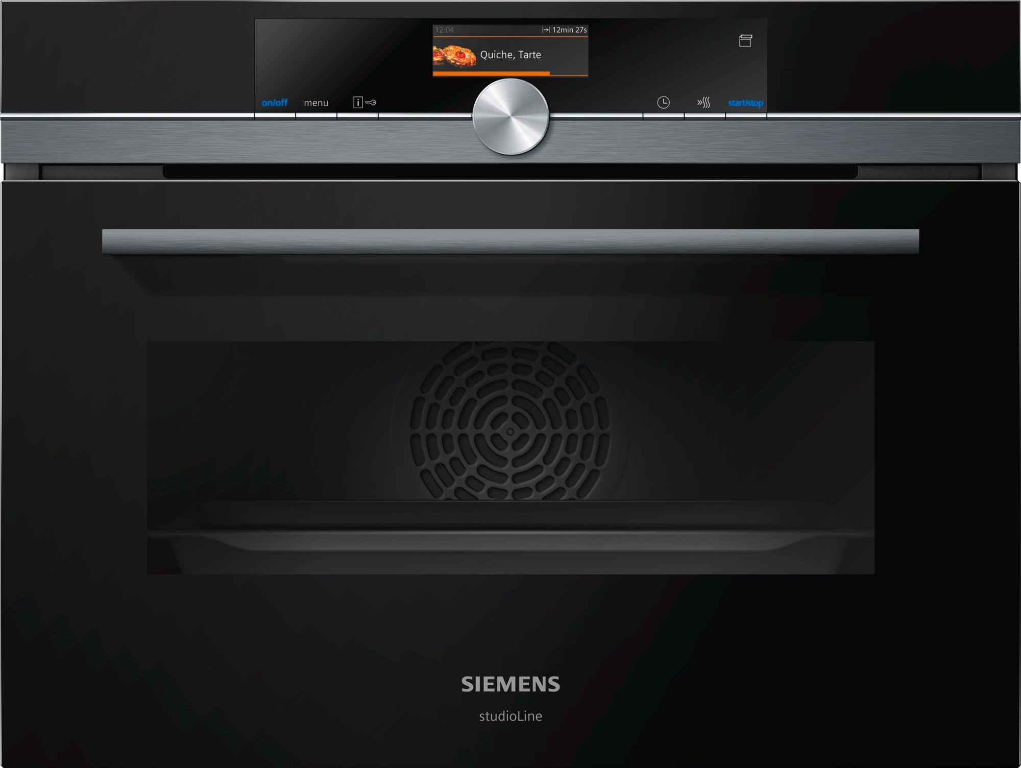 Siemens CS856GPB7 Einbau-Kompaktdampfbackofen Schwarz