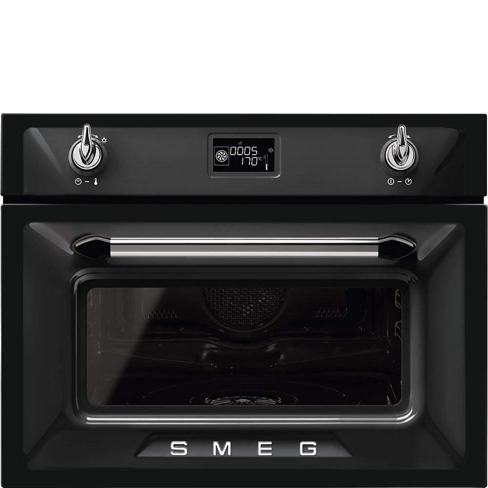 Smeg SF4920VCN1 Einbau-Kompaktdampfbackofen Schwarz