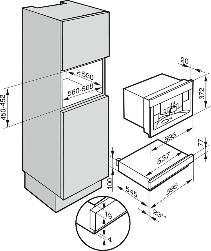 Miele EGW 6210 Einbau-Wärmeschublade Edelstahl