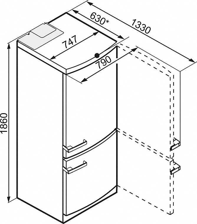Miele KFN 15842 D EDT/CS Stand-Kühl-Gefrierkombination Edelstahloptik