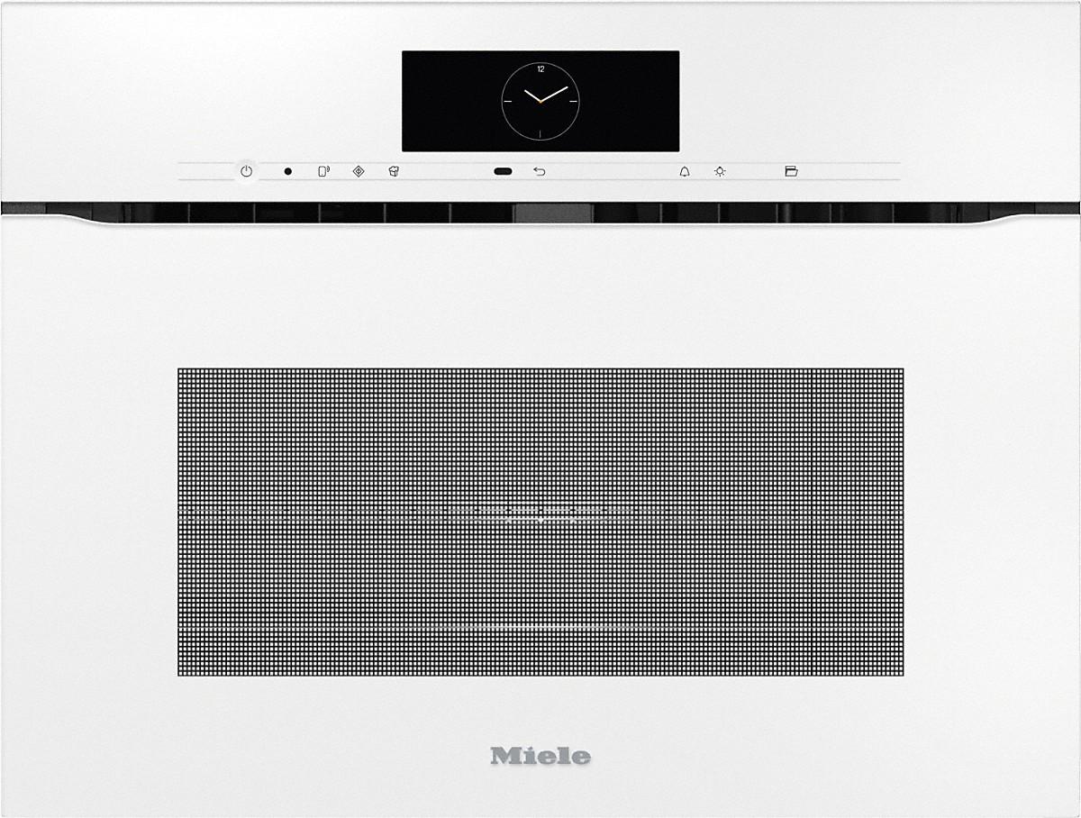 Miele H 7840 BMX Griffloser Kompakt-Backofen mit Mikrowelle Brillantweiß