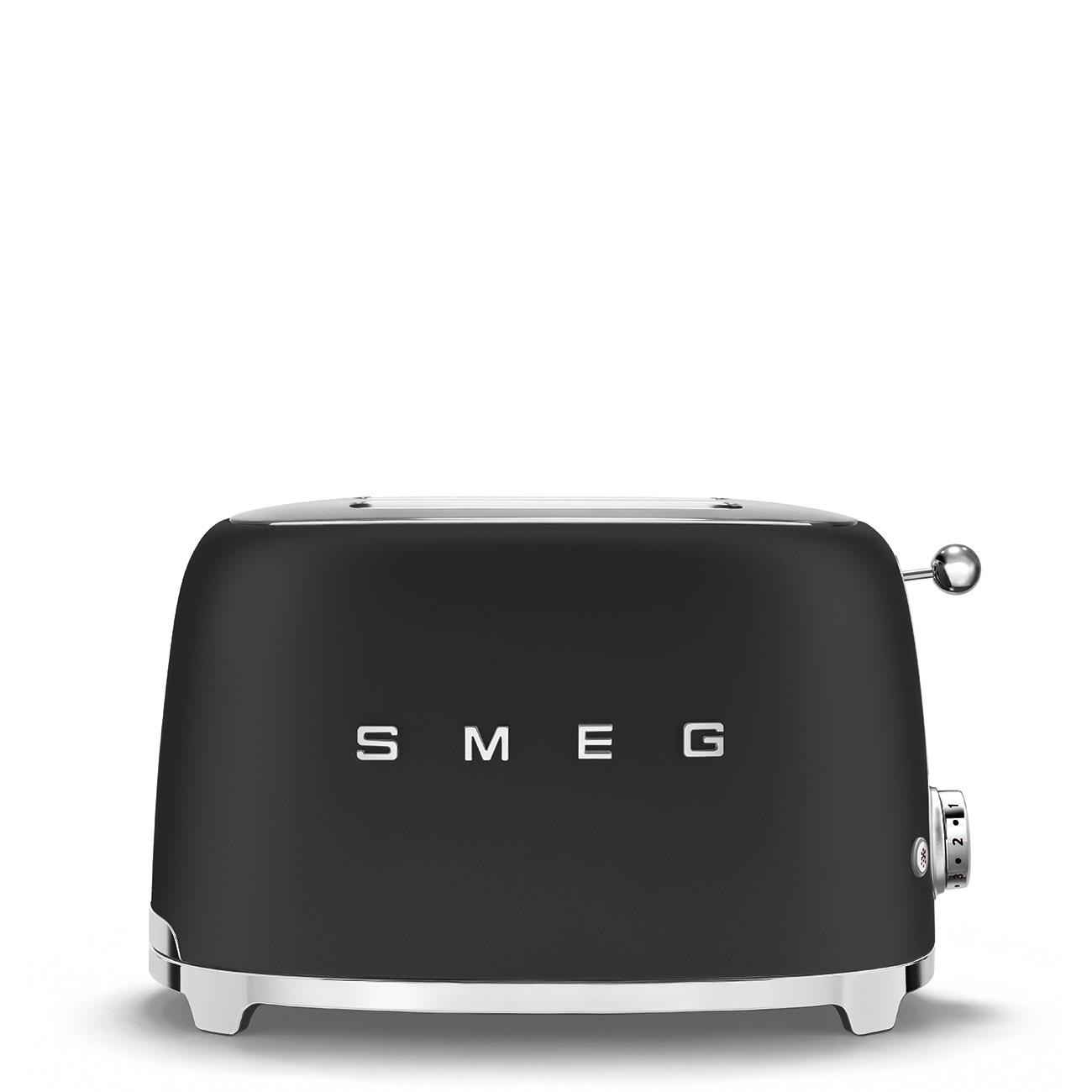 Smeg TSF01BLMEU Toaster Schwarz matt