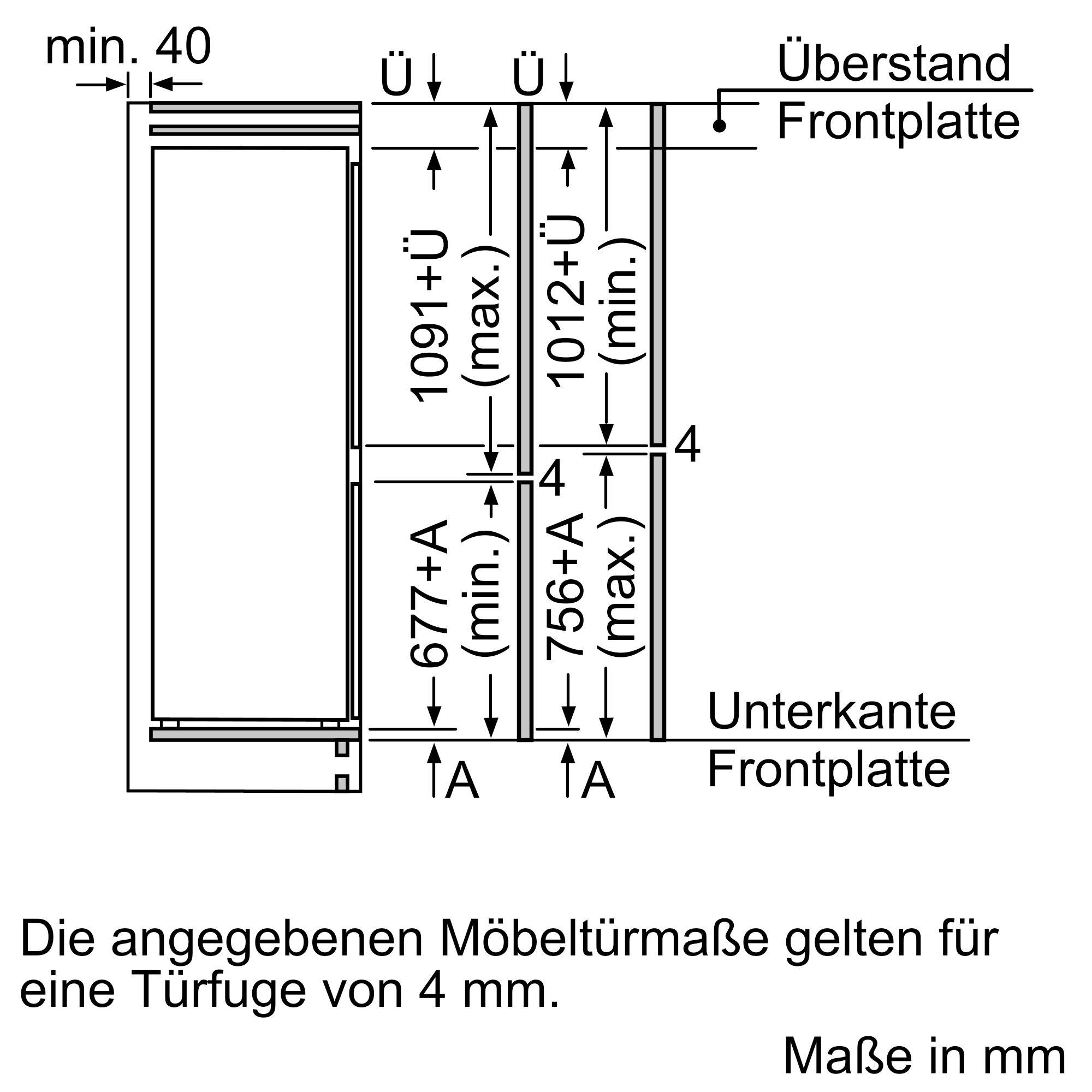 Bosch KIV865SF0 Einbau-Kühl-Gefrierkombination