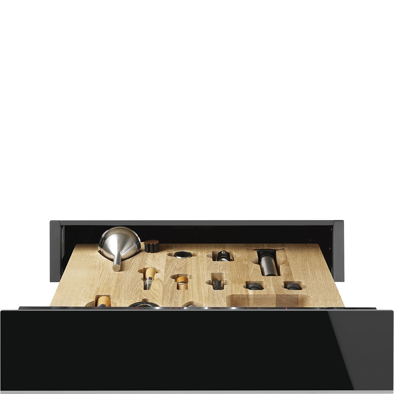 Smeg CPS615NX Einbau-Sommelierschublade Schwarzglas
