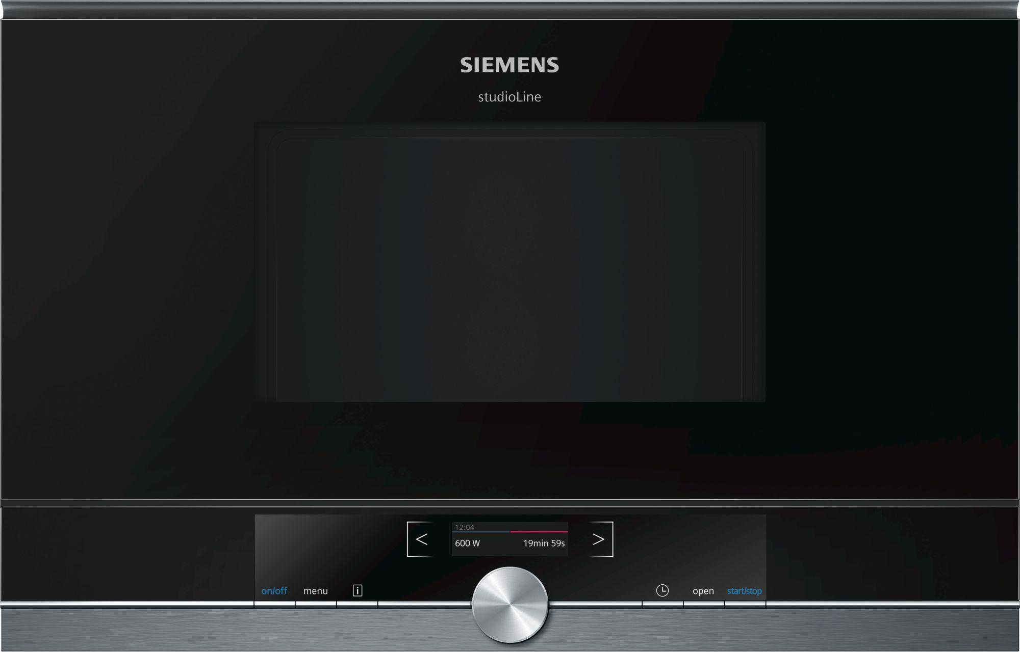 Siemens BF834RGB1 Einbau-Mikrowelle Schwarz