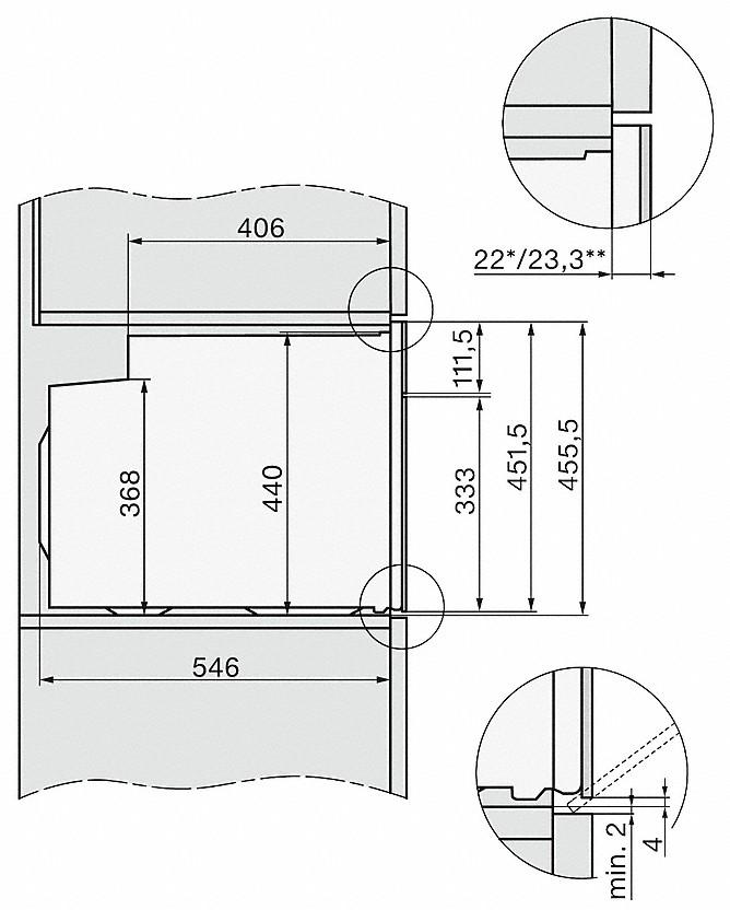 Miele H 7244 B Einbau-Backofen Graphitgrau