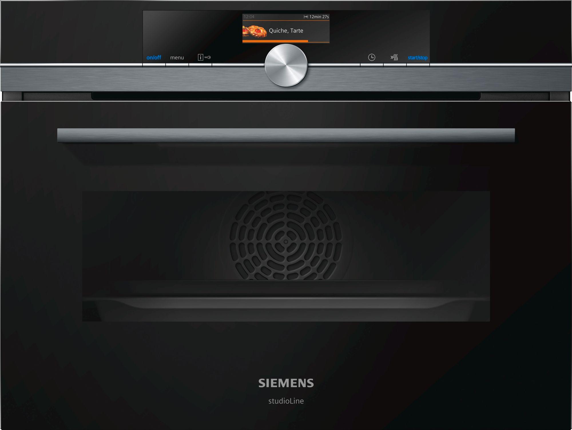 Siemens CM876G0B6 Kompakt-Backofen mit Mikrowelle Schwarz