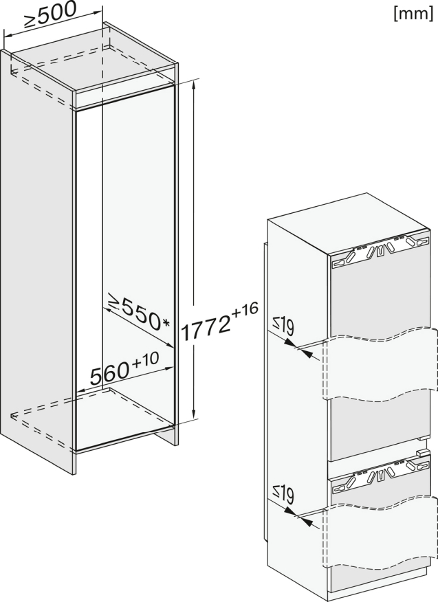 Miele KF 7742 D Einbau-Kühl-Gefrierkombination